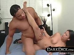 Hot Asian Fucks Giant Black Dick interracial