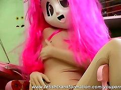 Pornstar as pink manga girl