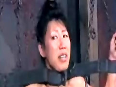 Pervert Asian Slave Tia Ling Extreme BDSM Training in Chains