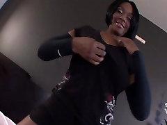 Black Teen w 34DD Tits in POV Video