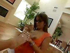 Priscilla Milan sucks and bends over to get a cock in her wet slit
