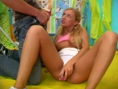 Tight blondie gets an assful - 18 Carat