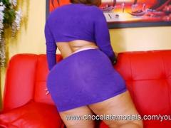 Big Booty Latina Scarlett - Purple Skirt OMG!
