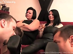 Four slaves humiliated by two mistresses