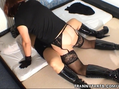 Wife gets creampied by a crossdresser