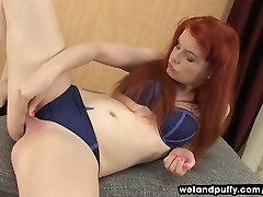 Barbara Babeurre Teases Her Pussy