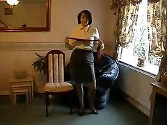 Teasing Milf in Nylon Stockings and Heels