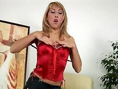 Mature Blonde Rozalia Fingers Hairy Pussy
