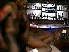 Kinky ebony guy takes every inch of a black stick up his hungry ass