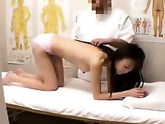 Cutie gets a massage in her underwear and gets her butt pro