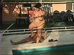 Mature BBW Ass Fucked by the Pool