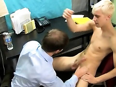 Guy gay sex black boy big Patrick is arched over the desk wi