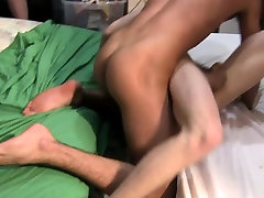 Skinny twinks hazed with naked wrestling