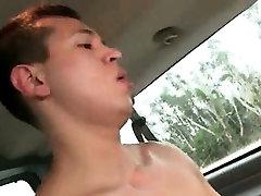 Hardcore gay barebacking in the boys sex bus