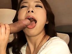 Milf chick with perky tits sucks on big dick and fucked hard