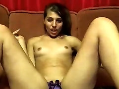 Young Anna teases pussy through elegant panties.avi