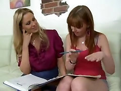 Double Fun With Mature & Redhead Teen,By Blondelover.