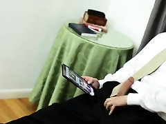 Mature mormon jerks off