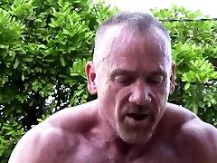 Mature muscle bear fucks