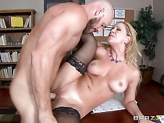 MILF boss Cherie Deville gets shafted by a big dicked employee