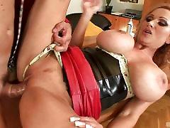 Redheaded MILF with big boobs Sharon Pink