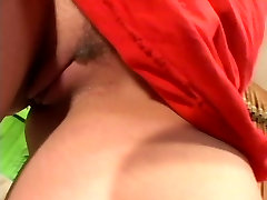 Stunning blonde with great big tits and shaved cunt gets dp fucked by two