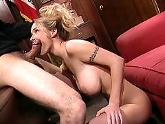 Cute young anal blonde with huge tits gets pounded by a big dick