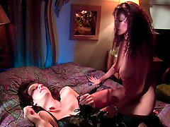 Busty brunette gets her juicy pussy fingered by lesbian sex bomb