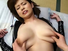 Latex asian girl with big tits