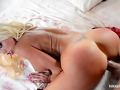 Nikita gets her pretty pussy fucked POV style