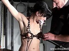 Hardcore bdsm and electric punishments of naughty fetish