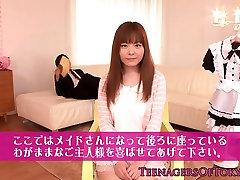 Beautiful japanese teen dressed as a maid
