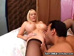 Big Boobed Blonde Mature Pussy Licked