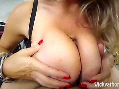 Cover My Big Tits in Jizz!! MILF Vicky Vette!