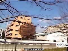 Subtitles dominant Japanese women tease old man in drag