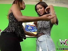 WCP CLUB Black milf and ebony teen love lesbian sex