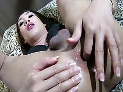 Ladyboy Joy 2 Breeding Creampie in Heels