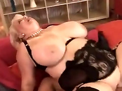 Chubby Mom Loves it on Her Big boobs
