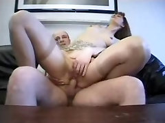 Longhaired french MILF in pussy and ass