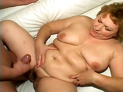 Chubby mature takes anal