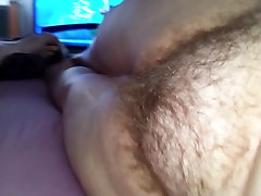 my wife with hairy pussy turns her hairy asshole to me